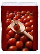 Cherry Tomatoes And Wooden Spoon Duvet Cover