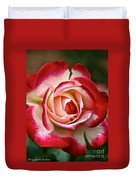 Cherry Vanilla Rose Duvet Cover