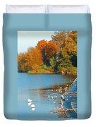 Chester In Autumn Duvet Cover