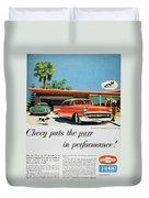 Chevrolet Ad, 1957 Duvet Cover