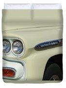 Chevrolet Apache 31 Fleetline Headlight Emblem Duvet Cover