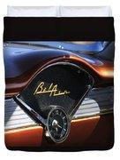 Chevrolet Belair Dashboard Clock And Emblem Duvet Cover