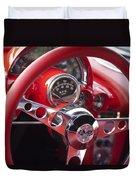 Chevrolet Corvette Steering Wheel Duvet Cover