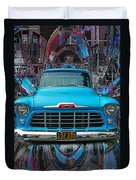 Chevrolet Pick Up Abstract Duvet Cover