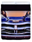 Chevrolet Pickup Truck Grille Emblem Duvet Cover