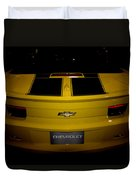 Chevy Camaro Covertible Rs Tail Duvet Cover