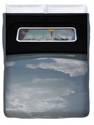 Chevy Coupe Rear Window Duvet Cover