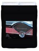 Chevy Dash Clock Duvet Cover