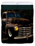 Chevy Hot Rat Rod Pickup Cowgirl's Last Stand Duvet Cover