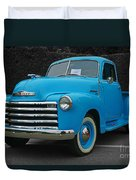 Chevy Pick-up With Bw Background Duvet Cover