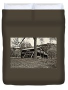 Chew Mail Pouch Sepia Duvet Cover