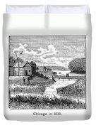 Chicago, 1833 Duvet Cover