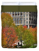 Chicago In Autumn Duvet Cover