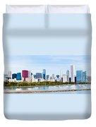 Chicago Panorama Skyline Duvet Cover by Paul Velgos
