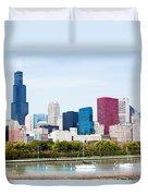 Chicago Skyline Lakefront Duvet Cover by Paul Velgos
