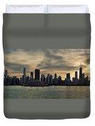 Chicago Skyline Navy Pier Duvet Cover