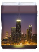 Chicago Skyscrapers With John Hancock Duvet Cover