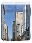 Chicago State Street - That Great Street Duvet Cover by Christine Till