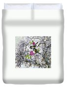 Chickadees In The Filbert Tree Duvet Cover