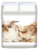 Chicken And Rabbit Duvet Cover