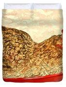 Chicken Hen Painting Art Print Duvet Cover
