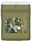 Chicory And Lace Duvet Cover