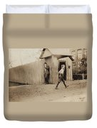 Child Goes To Work At Mill In Alabama - 1910 Duvet Cover