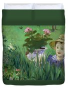 Child In The Flowers Duvet Cover