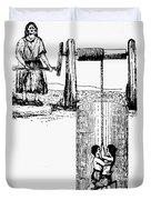 Child Labor, 1842 Duvet Cover