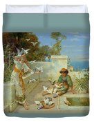 Children By The Mediterranean  Duvet Cover