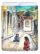 Children In Nicosia Duvet Cover