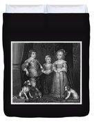 Children Of Charles I Duvet Cover