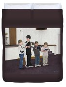 Children Sing Praise Duvet Cover