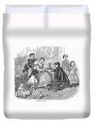 Childrens Fashion, 1868 Duvet Cover