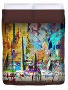 Child's Painting Easel Duvet Cover