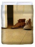 Child's Shoes By Open Door. Duvet Cover