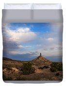 Chimney Rock On The Oregon Trail Duvet Cover