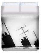 Chimneys Duvet Cover by David Ridley
