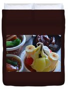 Chinese Food Miniatures 2 Duvet Cover