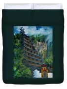 Chinese Hanging Temple Duvet Cover