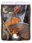 Chinese Street Food Duvet Cover