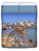 Chora Naxos Duvet Cover