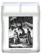 Christ & Woman Of Samaria Duvet Cover