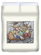Christ And Apostles Duvet Cover