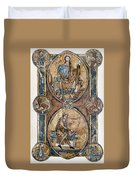 Christ And David Duvet Cover