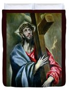 Christ Clasping The Cross Duvet Cover