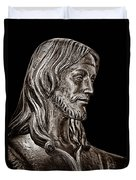Christ In Bronze - Bw Duvet Cover