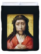 Christ In Crown Of Thorns Duvet Cover