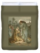 Christ In The Garden Of Gethsemane Duvet Cover