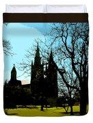 Christian Church Silhouette Duvet Cover